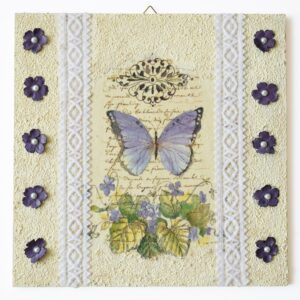 Domborműves kép Paverpol technikával - Szalagos sorozat - Pillangó