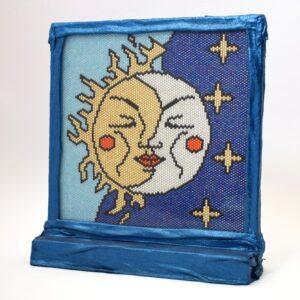 Kétoldalú peyote kép - A Nap és a Hold