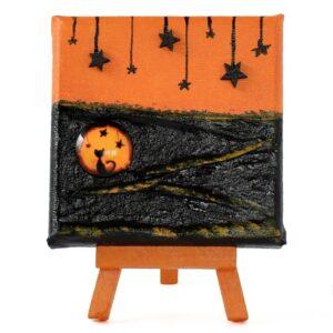 Domborműves kép Paverpol technikával - Halloweeni vágyakozás