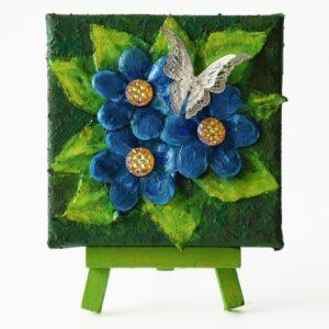 Paverpol - Pillangó kék virágokon